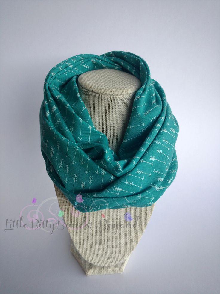 Infinity scarf bib | Infinity scarf | Toddler scarf by LittleBittyBandsBeyo on Etsy   #Toddlerinfinityscarf #infinityscarfbib #tealarrows #droolbib