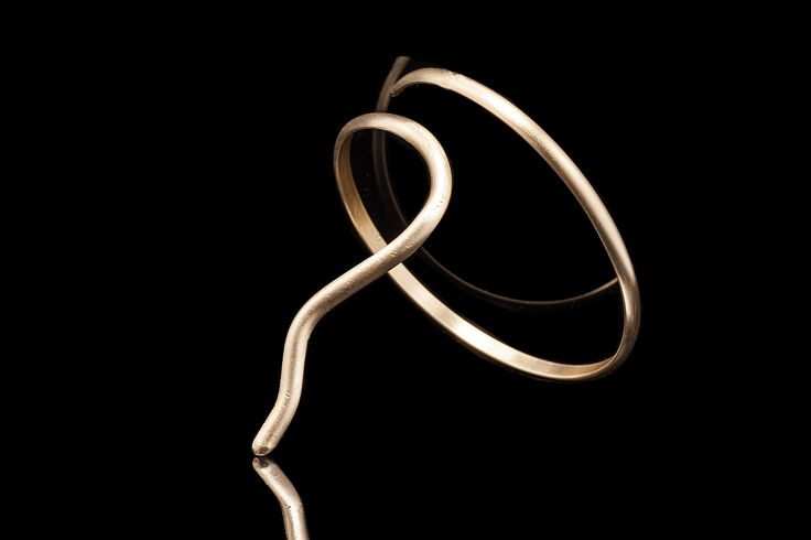 One of my Favorites MINIMAL & ELEGANT Designs - Call it SALOME - Handmade ARM Bracelet- 18 ct Goldplate Bronze-