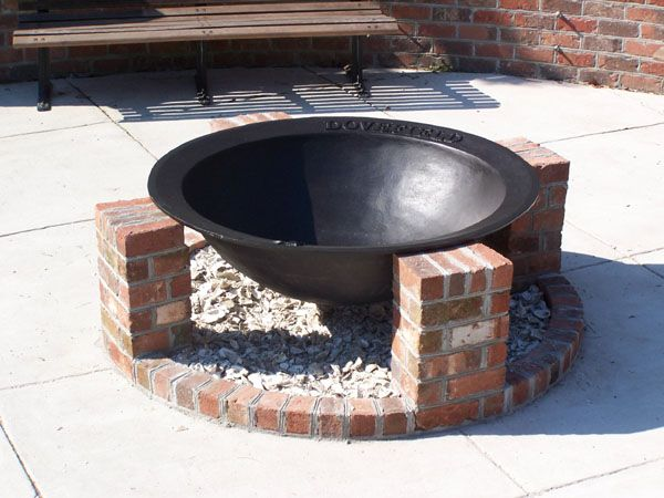 Syrup Kettle Firepit Fire Pit Ideas Pinterest Bricks