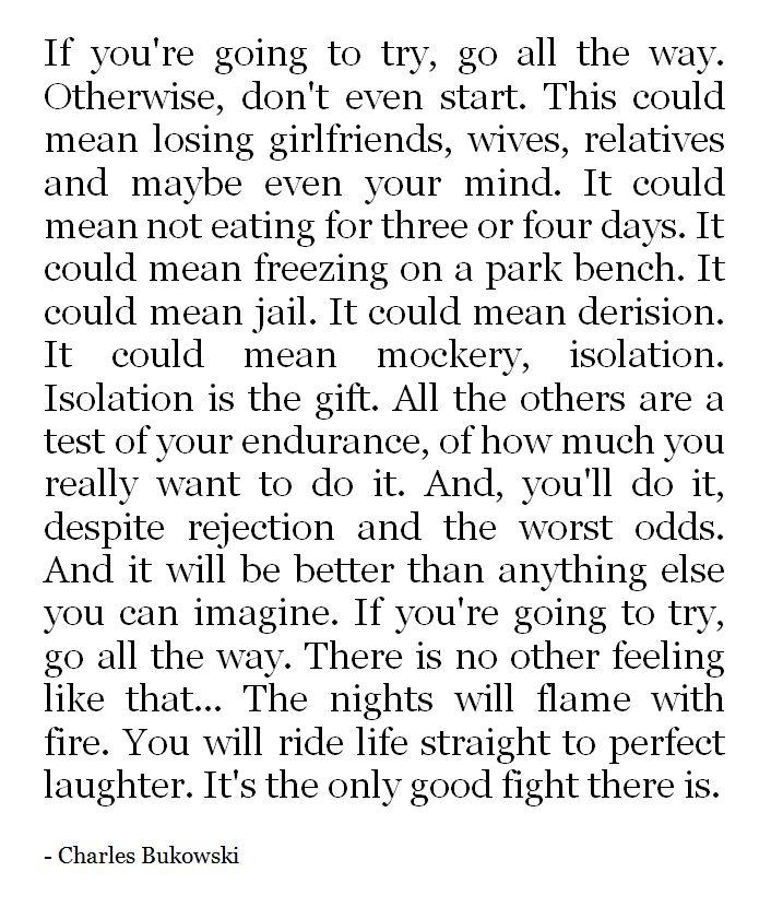 Charles Bukowski Quote About Way: 375 Best BUKOWSKI** Images On Pinterest