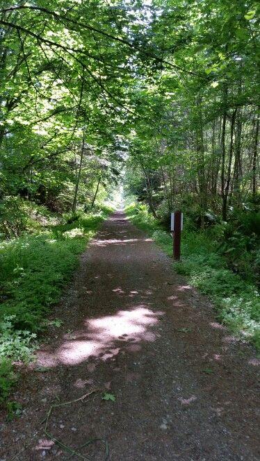 Hike/bike the Cowichan Trail. Lake Cowichan Vancouver Island BC