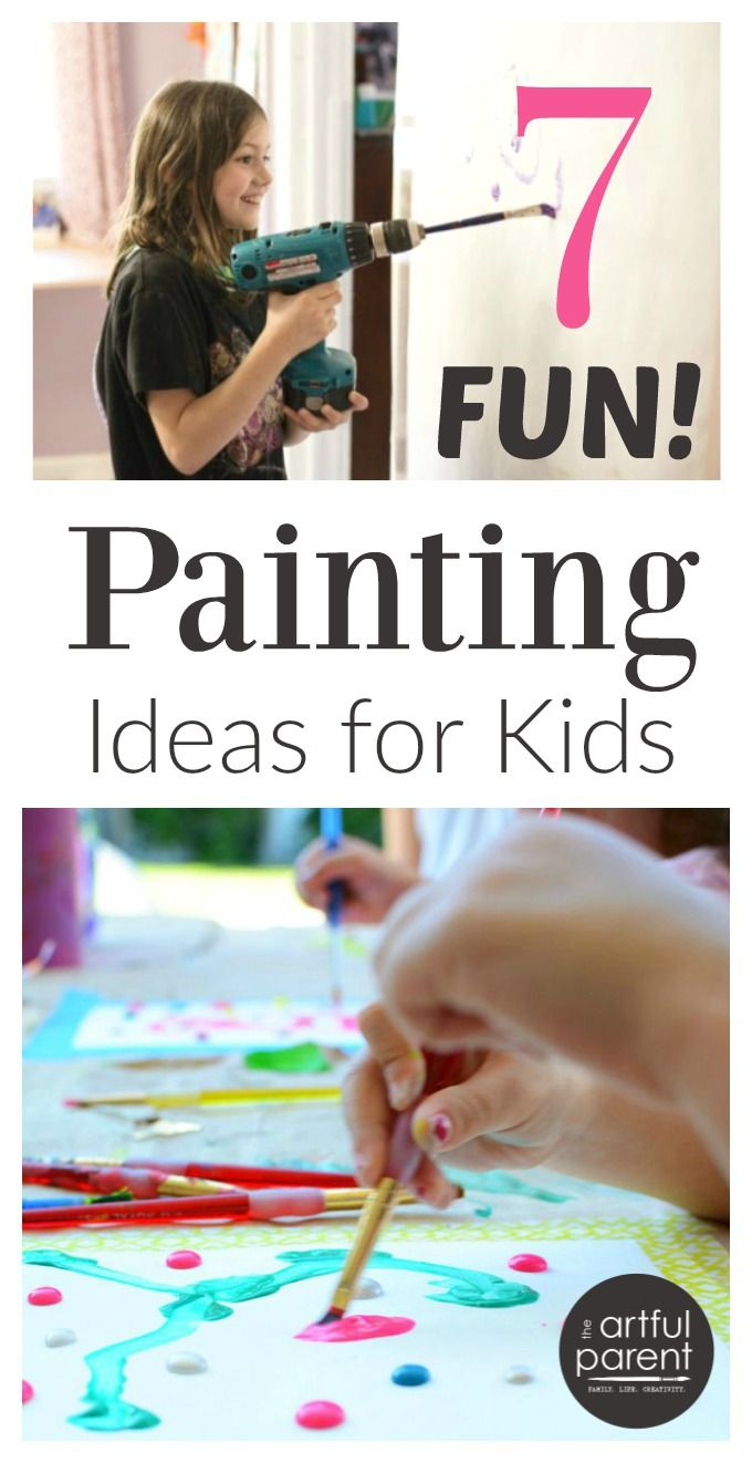 7 unique and fun painting ideas for kids! (Plus the best paints and papers to use for kids painting activities.)