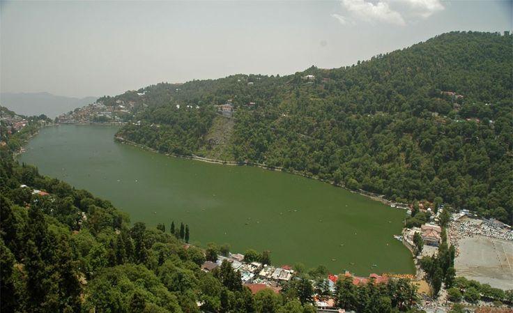 Nainital lake view with greenery
