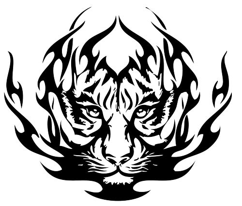 Tiger Tattoo Design Photo Art