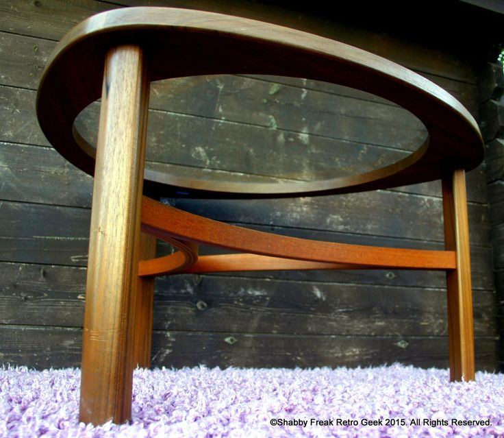 vintage retro nathan teak triangular glass top coffee table