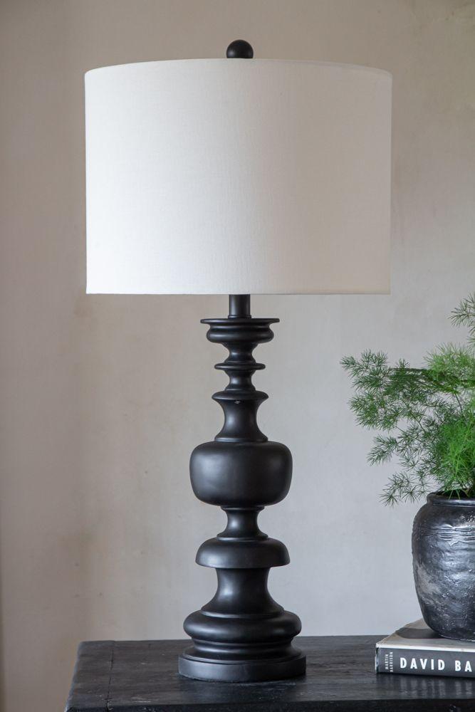 Wood Table Lamp Base Turned Handmade