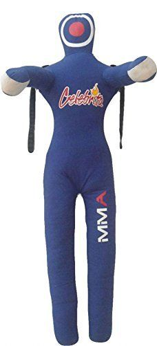 """Celebrita Italy MMA Judo Grappling Dummy w open hands and 3 straps on head and shoulder unfilled MMA377 Canvas - Blue 70 Up to 55kg/121 lb by Celebrita MMA. Celebrita Italy MMA Judo Grappling Dummy w open hands and 3 straps on head and shoulder unfilled MMA377 Canvas - Blue 70 Up to 55kg/121 lb. 70"""" Up to 55kg/121 lb."""
