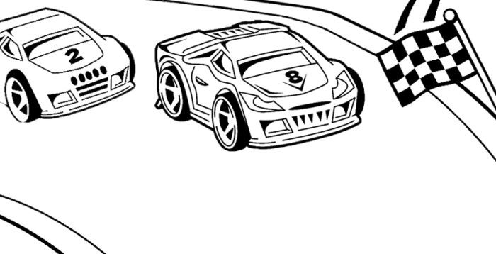 race car track coloring pages - photo#41