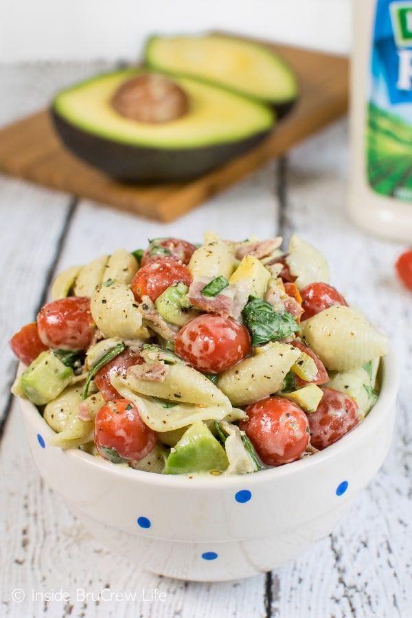 Spicy BLT Pasta Salad