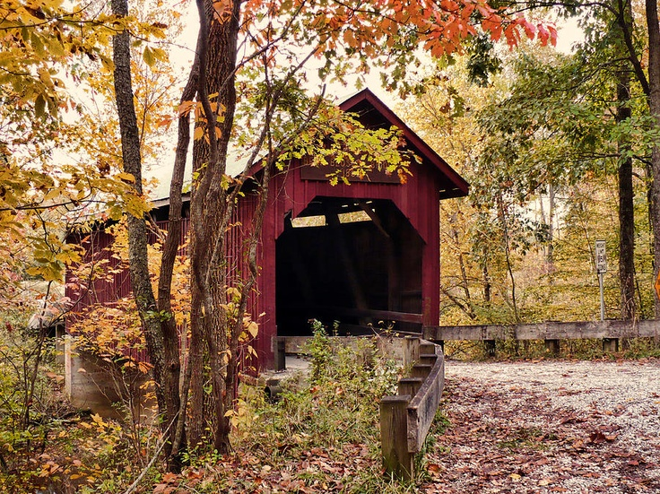 Bean Blossom Covered Bridge Southern Indiana