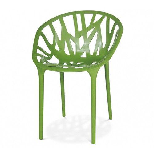 De Vegetal Stoel is gemaakt van gekleurd polyamide en kan tot drie hoog opgestapeld worden. Tevens geschikt voor buitengebruik.  Afmetingen: B 50,9 x D 55,5 x H 78,6 cm.