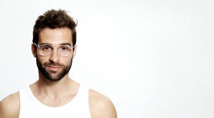 lunette homme, lunettes de vue homme tendance, grosse lunette de vue,  lunette transparente c3b35389a350