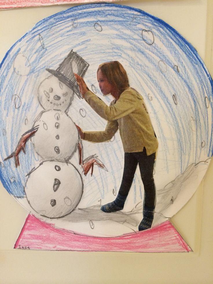 Lumipallon sisällä