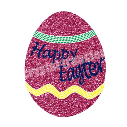 Happy Easter Eggs Rhinestone Iron Ons Transfers Decal