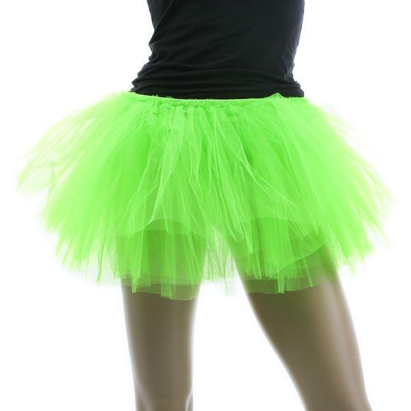 Tutu para Ballet Baile y Danza en verde neon con elastico disfraz