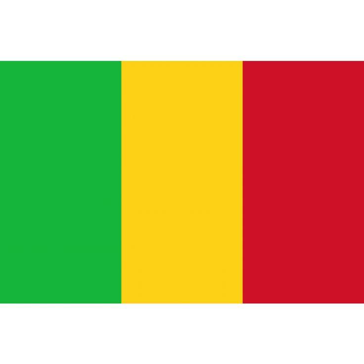 vlag Mali, Malische vlaggen 100x150cm De vlag van Mali is een verticale driekleur in de kleurencombinatie groen-geel-rood. De kleuren op de vlag van Mali zijn dezelfde als die op de vlag van Ethiopië, de langst onafhankelijke staat in Afrika. Deze Pan-Afrikaanse kleuren staan voor Afrikaanse eenheid. De vlag werd al gebruikt door Mali's Afrikaanse Democratische Beweging vóór de onafhankelijkheid van het land in 1960.