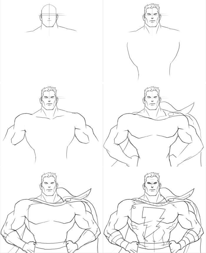 бесплатно все картинки супергероев карандашом поэтапно рецепт приготовления домашнего