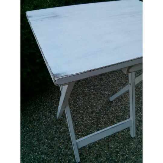 Fold out occasional tables make awesome bedside tables