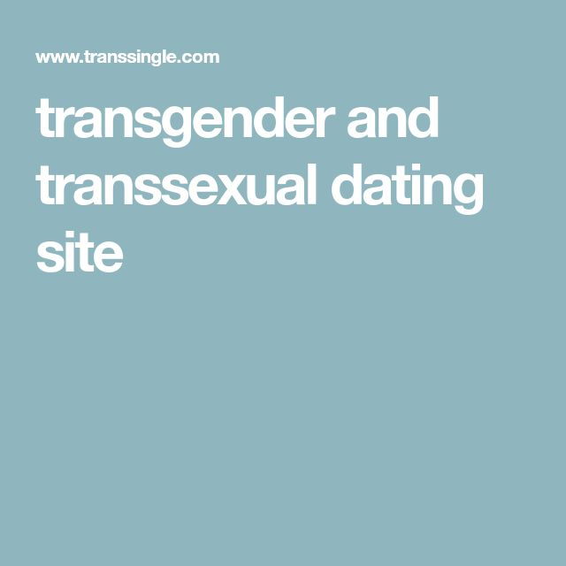 transgender and transsexual dating site