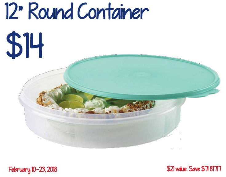 "Round Container...$14.00 *On Sale* Can hold up to a single 9"" pie, a dozen muffins and other baked goods. Freezer Safe  Also, use for homemade tortillas, banana pudding, homemade cupcakes, and more.  Easy Order Online: http://mytwpage.com/kays?utm_content=buffer452fb&utm_medium=social&utm_source=pinterest.com&utm_campaign=buffer http://www.facebook.com/kaystupperwareparty?utm_content=buffer0343f&utm_medium=social&utm_source=pinterest.com&utm_campaign=buffer #tupperwarewithkay"