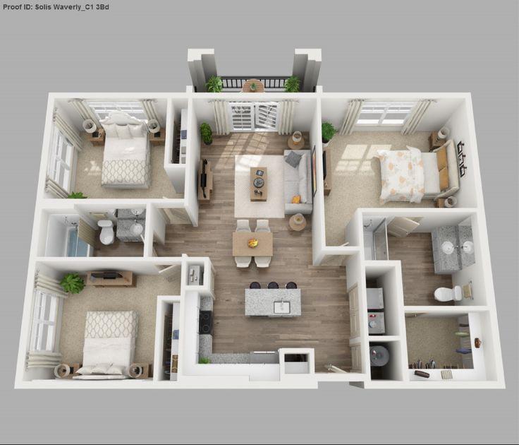 Bedroom House Floor Plan Small Plans Three Get Updates ...