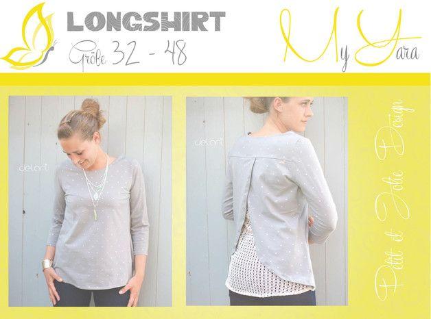 "Nähanleitungen Mode - Ebook Longshirt ""MyYARA"" - Gr. 32-48 - ein Designerstück von petitetjolie bei DaWanda"