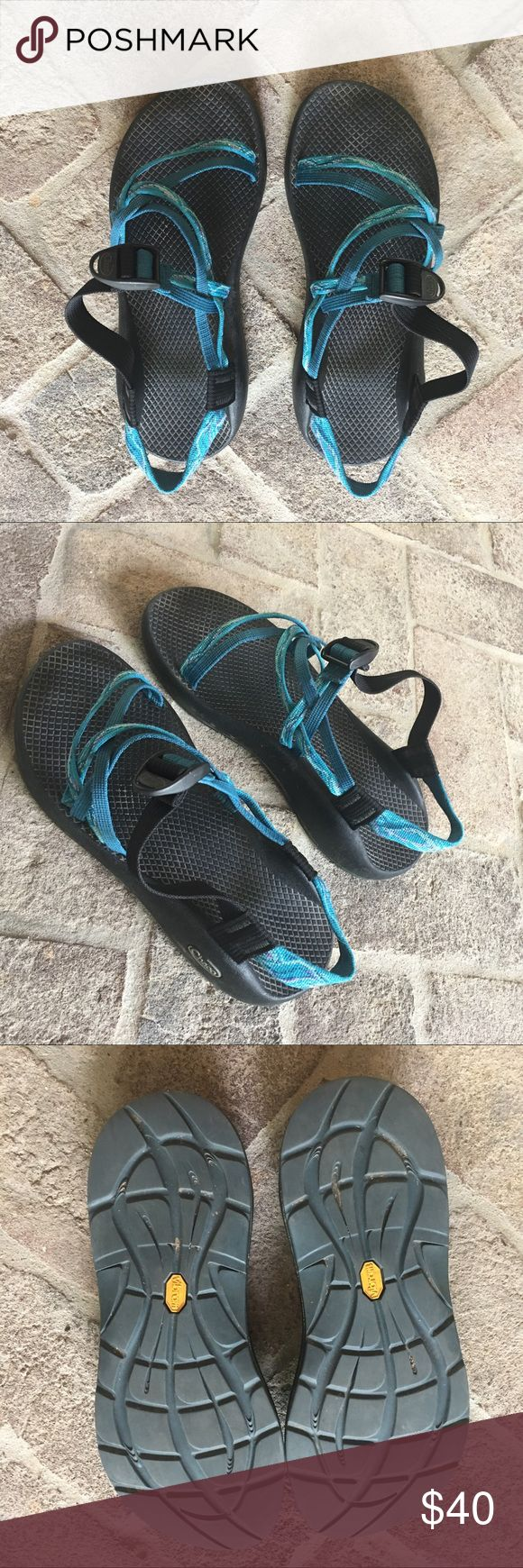 Chacos size 9 Super comfy. Double strap with no toe strap. Used but good condition. Chaco Shoes Sandals