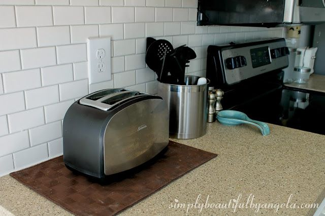 """Soft Gray Grout:  Color is """"Warm Gray"""" by MAPEI, Found at Lowes  //  Simply Beautiful by Angela"""