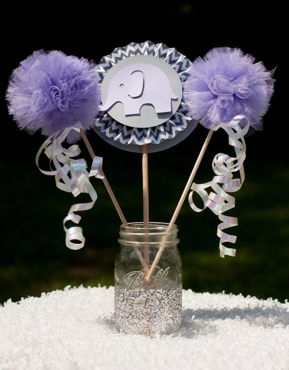 Elephant Baby Shower Centerpiece Table Decoration by GracesGardens, $16.50