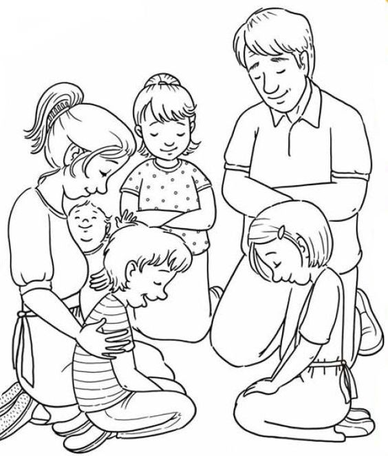 Resultado de imagem para familia orando para pintar | Praying with ...