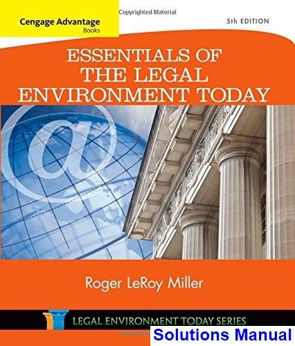 50 best solutions manual download images on pinterest cengage advantage books essentials of the legal environment today 5th edition miller solutions manual test fandeluxe Images
