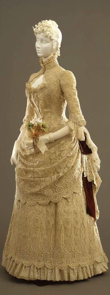 1884 Beautiful lace dress