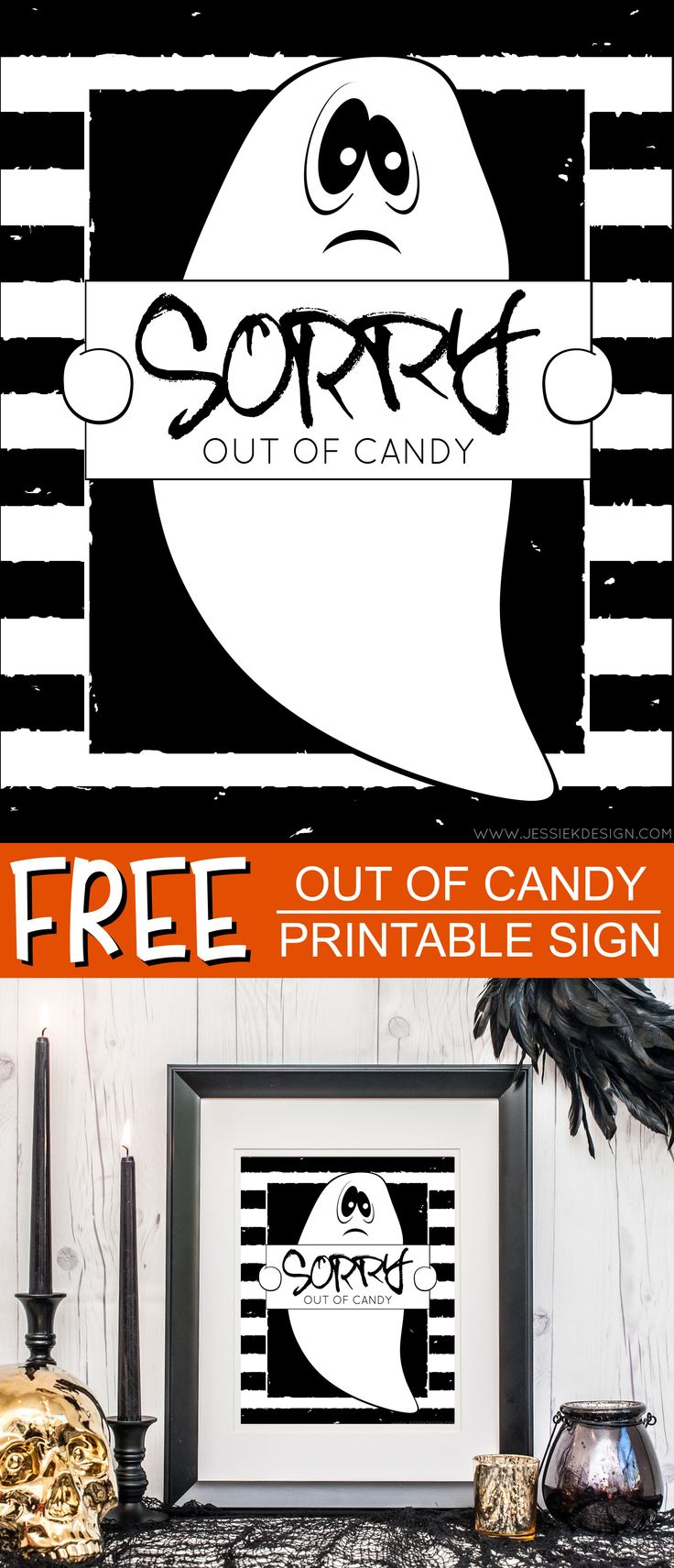 Out Of Candy Printable Sign Halloween signs, Candy signs