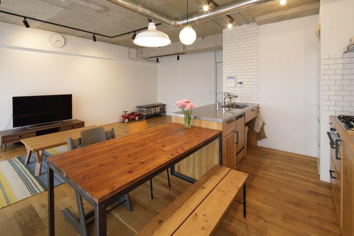 マンションリノベ事例 キッチンを大移動して叶えた いろんな居場所があるldk Sumai 日刊住まい 機能的 キッチン キッチン キッチン アイデア