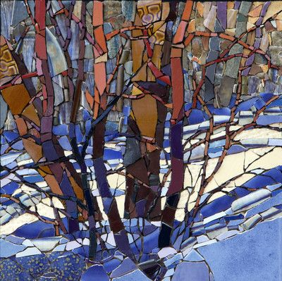 Ash Trees in Late Afternoon - Sharon Loeppky