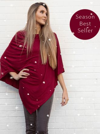 Cranberry Nursing Poncho