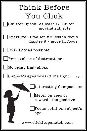 always good to remember..this would be great for teaching student how to take quality pictures for the yearbook!