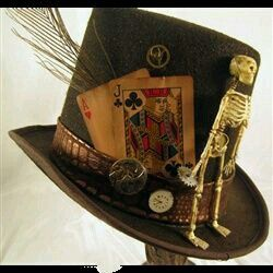 Hat inspired by papa legba