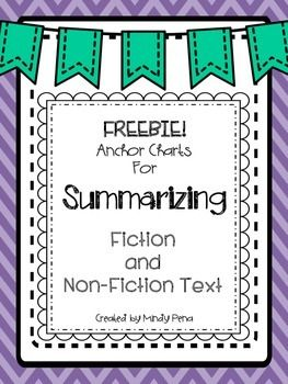 These two anchor charts are from my Summarizing Fiction and Non-Fiction Text Set.  There are two different options for non-fiction summary.  Choose the best that works for you and your kiddos!To purchase or view the complete set, click here: https://www.teacherspayteachers.com/Product/Summarizing-Fiction-and-Non-Fiction-Text-1746491Thank you for visiting my store and viewing my products!