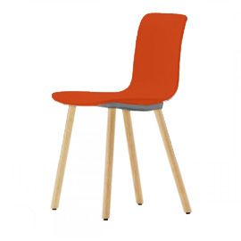 Vitra Hal Chair By Jasper Morrison - 947598 - Hal Vitra Chair Orange / Light Oak