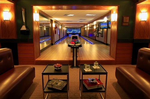 Bowling alley in the basement - Why didn't I think of that?