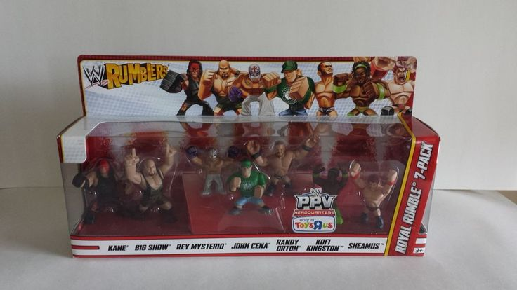 WWE RUMBLERS ROYAL RUMBLE FIGURES 7-PACK *SEALED BOX* 2012 CENA MYSTERIO OTHERS ...