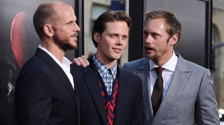 """Gustaf Skarsgard, Bill Skarsgard and Alexander Skarsgard attend the premiere of """"It"""""""