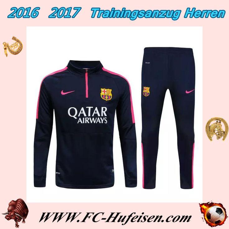 Brauch Neue Trainingsanzüge Fussball Herren Kits FC Barcelona Schwarz Seson 2015 2016 Günstig Online