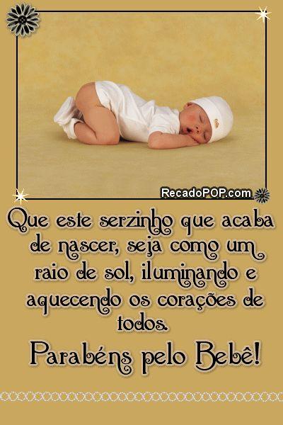 Well-known 36 best parabéns pelo bébé images on Pinterest | Congratulations  OJ21