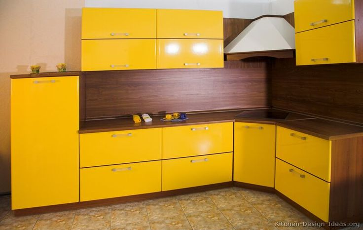 110 best images about yellow kitchens on pinterest for Modern yellow kitchen cabinets