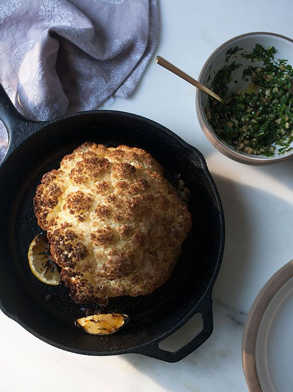 how to cook a whole head of cauliflower