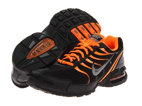 Nike Air Max Torch 4 Black/Metallic Grey/Total Orange/Black - 6pm.com | Shoes | Nike, Nike air ...