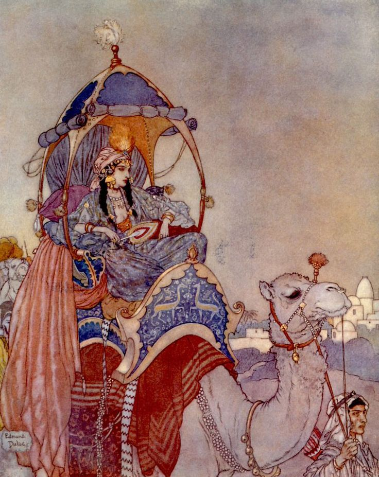 DULAC, Edmund (1882-1953). The Queen of Sheba. 1911.                                                                                                                                                     More