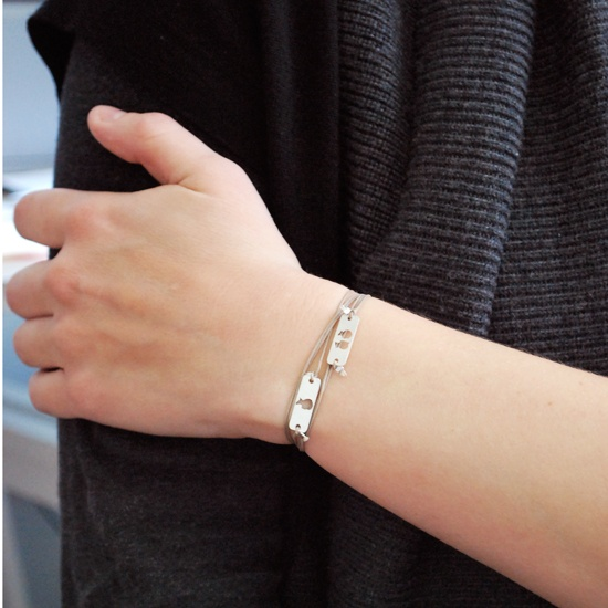 Lase Cut My Love - Double Bracelet from lepapierstudio.com.  $96.  So delicate and simple!  #forMom  @lepapierstudio